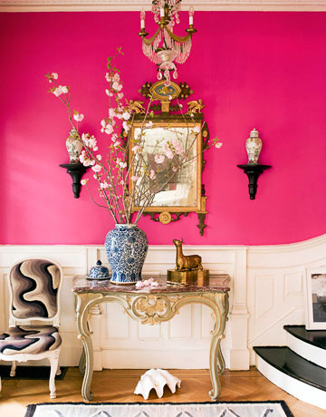 Using-Hot-pink-RAZZLE-DAZZLE-by-Benjamin-Moore