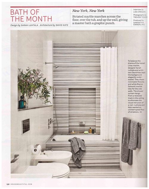 House Beautiful - Bath of the Month